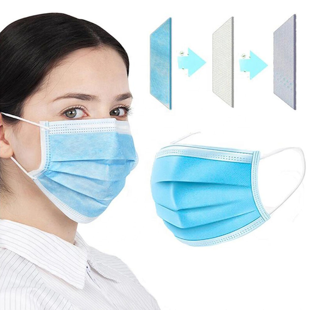 10 20 50 pcs/pack Non Woven Maska Disposable Earloop Face Mask 3 Layer Non woven Meltblown Cloth Earloop Anti Dust Mouth MaskMens Masks   -
