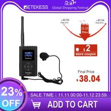 Retekess FT11 0.3W FM Wireless Transmitter MP3 Broadcast Radio Transmitter for Church Car Meeting Tour Guide System