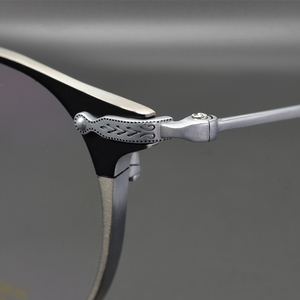 Image 3 - Marco de gafas de titanio para hombre, Marco Retro, gafas graduadas para miopía, monturas redondas