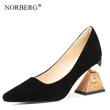high heels full genuine leather brand women shoes  party Special shape heel Pumps fashion office