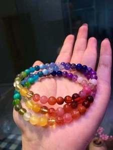 Image 3 - 6mm Natural Rainbow Different Mixed Stone Larimar Amber Amethyst Tanzanite Aquamarine Lapis Beads Bracelet AAAAA Certificate