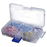 100Pcs 26 10AWG Assorted Solder Sleeve Heat Shrink Splice Butt Wire + Box|Terminals|   -
