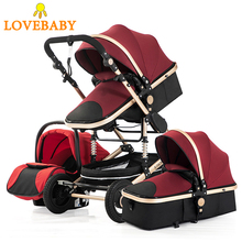 Baby Stroller High Landscape 3 In 1 Baby Carriage High View