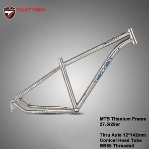 Image 1 - Twitter Werner Titanium Frame Mtb Bicycle Frame Thru axle 12*142mm 27.5er 29er Aviation Titanium Alloy 15.5 17 19 Bikes Frame