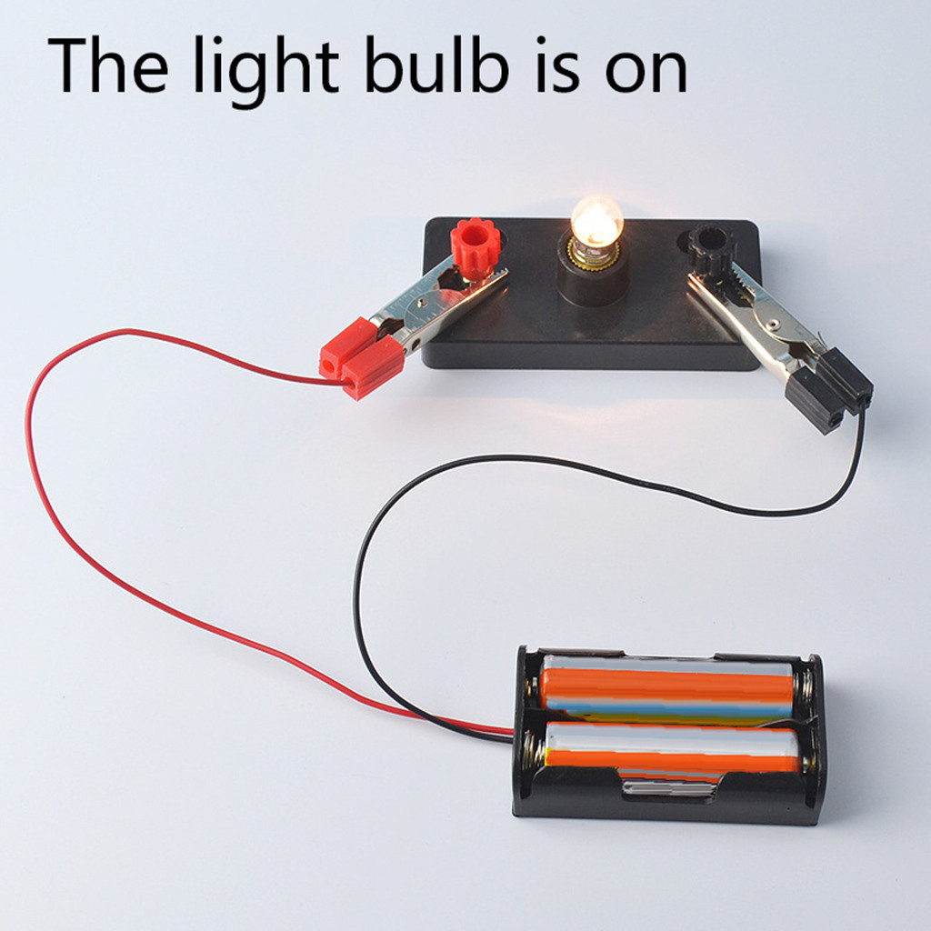 Kids Toys  Electric Circuit Kit Kids Student School Science Light Bulbs Toy Educational DIY Toys For Children Christmas Gift