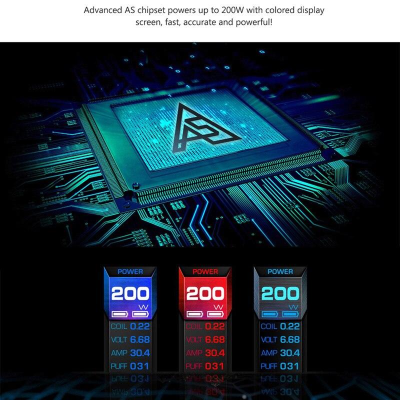 Мод для Vape, ограниченная серия, Aegis legend, бокс, 200 Вт, электронная сигарета, Vape, подходит для двух 18650, для 510, атомайзер с резьбой, vape vs ageis solo - 4