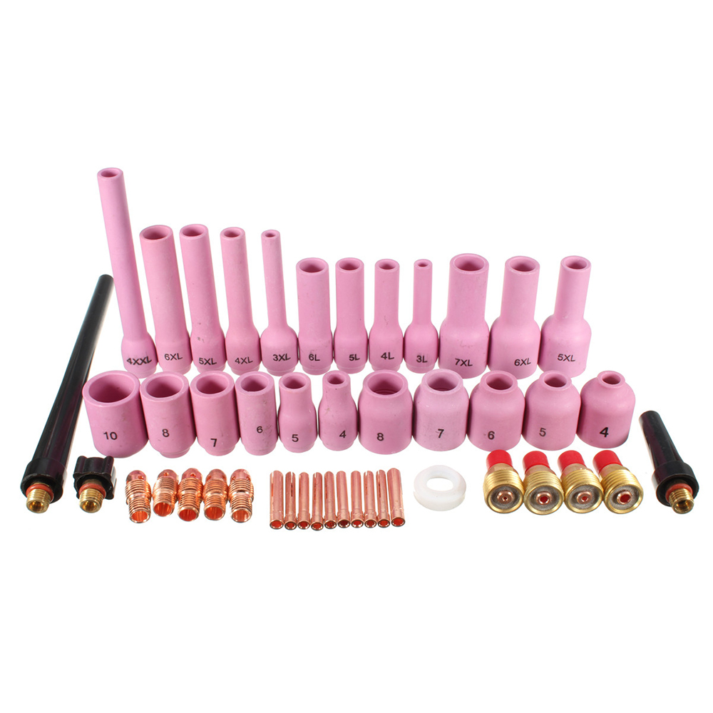 46pcs TIG Welding Torch Kit 1 0mm-3 2mm Gas Lens Setup 9 20 25