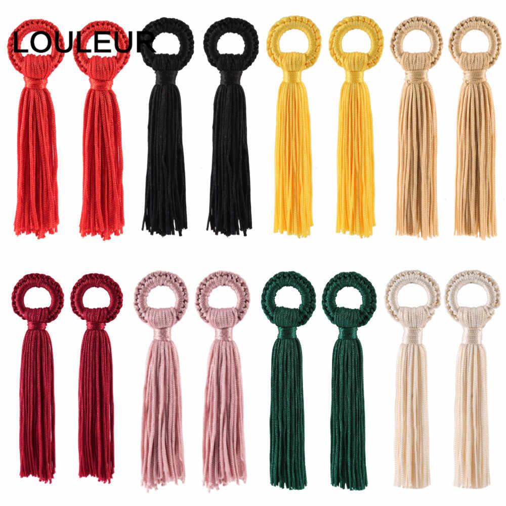 6 pièces/lot 11cm coloré coton soie glands franges brosse pour boucle d'oreille breloques pendentifs bijoux à bricoler soi-même faisant des résultats artisanat à la main