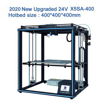 Tronxy 3D drukarki X5SA-400 duży obszar budowy 400*400*400mm Bowdon TItan wytłaczarki wysokiej precyzji drukowanie 3d elastyczne żarnik tanie i dobre opinie CN (pochodzenie) 1 75mm 60mm s 90-100 0 1-0 4mm English Chinese 100mm s PLA ABS HIPS WOOD PC PVE and so on repetier host cura
