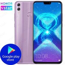 HONOR 8X, мобильный телефон, 6,5 дюймов, 4 ГБ, 64 ГБ, Kirin 710, четыре ядра, Android 8,0, 3750 мАч, разблокировка отпечатков пальцев