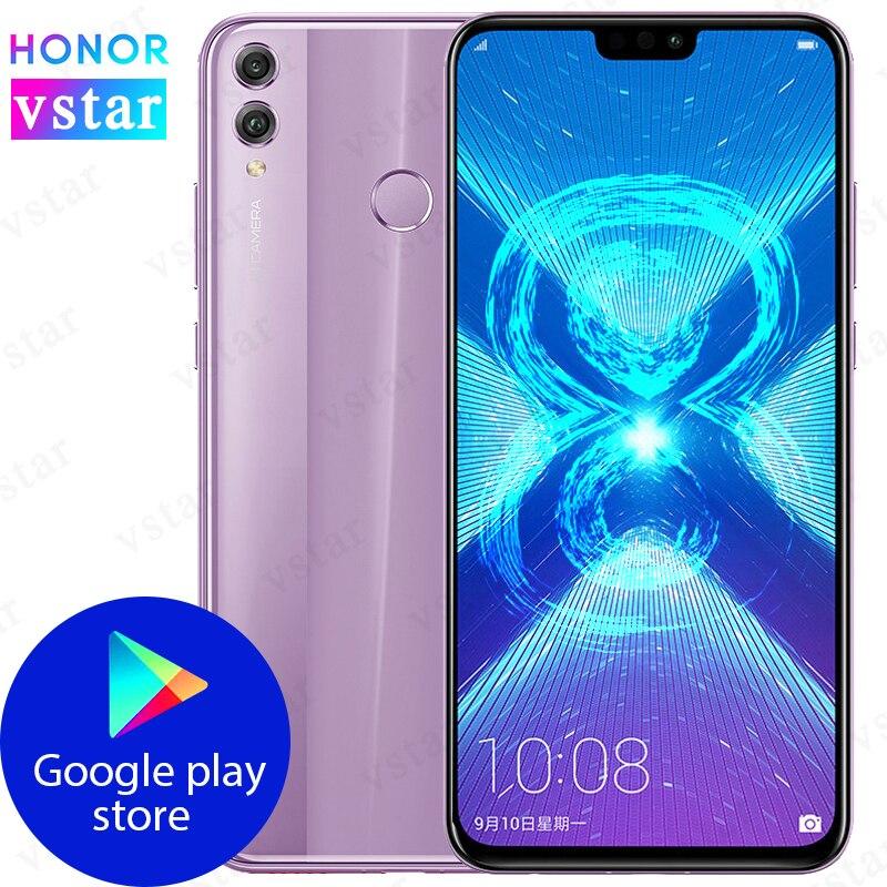 Оригинальный Смартфон HONOR 8X с глобальной прошивкой, экран 6,5 дюйма, 6 ГБ 128 ГБ, Восьмиядерный процессор Kirin 710, на базе Android 8,0, 3750 мАч, разблокиро...