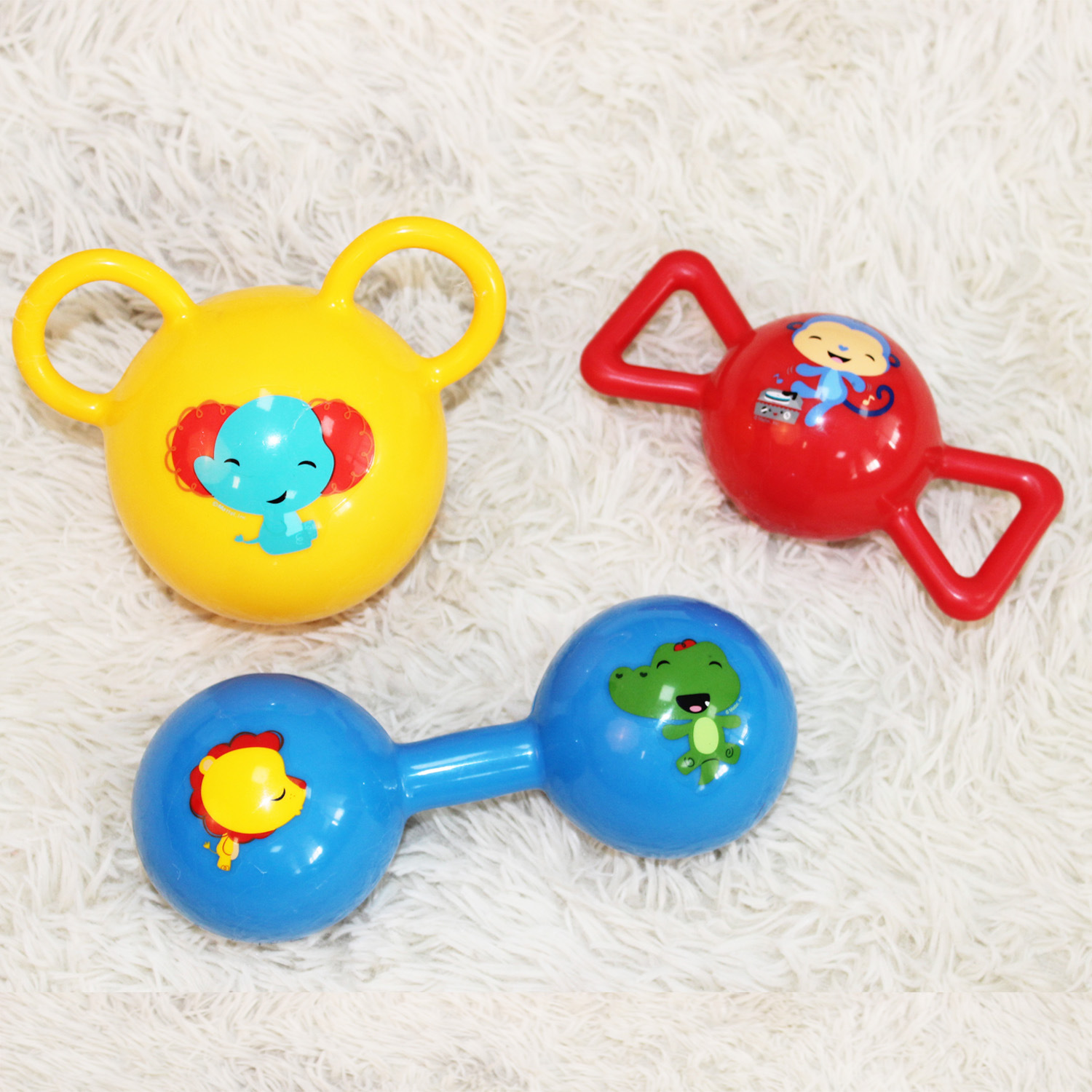 FISHER-PRICE Baby Rattles Set Newborns Hand Ball Kids Squeeze Ball Infant Toy Ball F0912