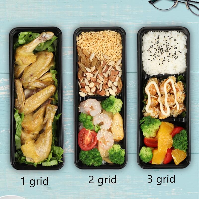 25 pièces compartiment jetable petite boîte à déjeuner affaires mini boîte à déjeuner fruits pêche lumière nourriture fitness repas salade boîtes à emporter - 3