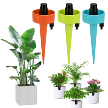 Plant Self Watering Adjustable Stakes System dripper potted watering artifact drip lazy watering Plastic device water seepage cheap Liplasting YP182759 orange blue green plant flower flower watering diameter 16 5cm dropshipping