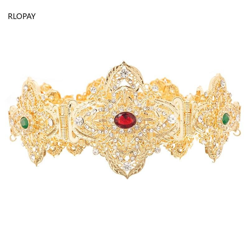 Moroccan Trendy Caftan Belts for Bride Silver Long Wedding Belt Arabic Luxury Bridesmaid Sash Crystal Wedding Belts Metal