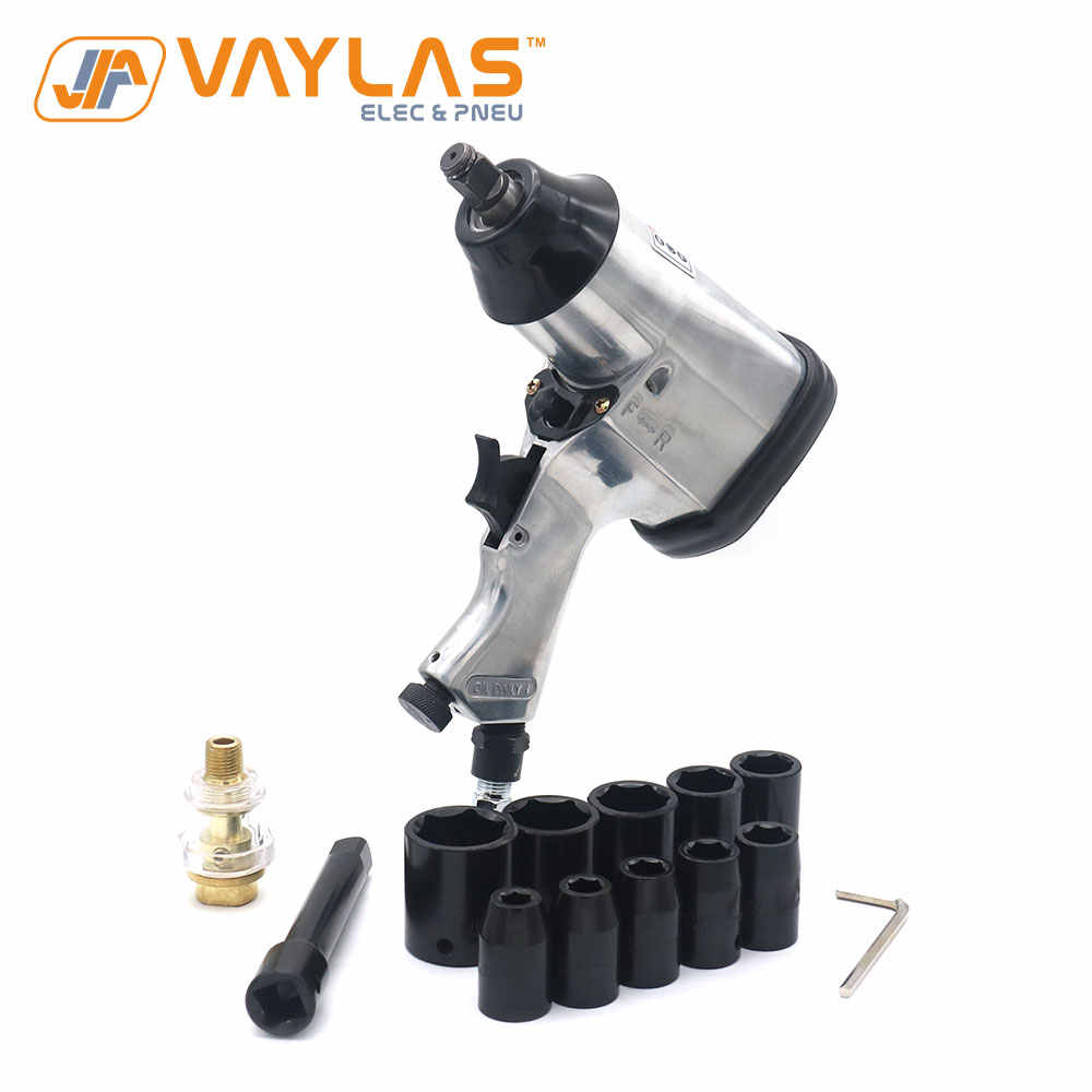 Air Tool Impact Driver Wrench Set 10x sockets 9mm to 27mm 1//2 inch drive