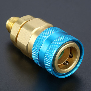 Image 5 - Inyector de Aceite SAE de 1/4 pulgadas, 2OZ, R134A R12 R22, tubo de llenado de refrigerante de aceite de coche, herramienta HVAC, tinte de inyección oz, herramientas automáticas