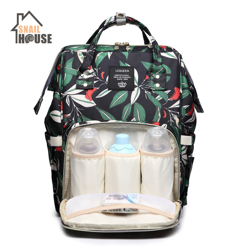 Snailhouse Fashion Diaper Bag Mommy Travel Backpack Stroller Bag Maternity Large Nappy Bags Printed Waterproof Outdoor Baby Bags