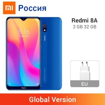 Versión Global Xiaomi Redmi 8A 2GB 32GB 5000mAh 12MP cámara trasera 8MP cámara frontal Snapdargon 439 Octa Core teléfono móvil