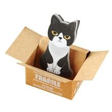 1 Набор липких заметок коробка кошка Скрапбукинг Клей маленькая заметка канцелярские принадлежности для студентов ремесло милый креативный