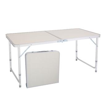 Składany stół przenośny stół kempingowy aluminiowy stół składany stół rzemieślniczy z uchwytem wysokość regulowana na imprezę piknikową tanie i dobre opinie Nowoczesne Normalne (1200mm ≤1600mm) Meble do domu Jadalnia meble pokojowe Na bazie drewna panele Metal Aluminium