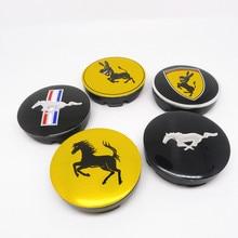 4pcs Wheel Center Cap 56mm Donkey Horse Car Styling Rims Hub Cover Emblem