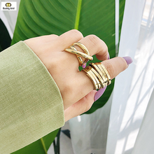 Minimalism Multilayer Rings Punk Rocks Spiral Metal Rings Multilayers Spiral Armor Knuckle Finger Rings Fashion Jewelry Party(China)