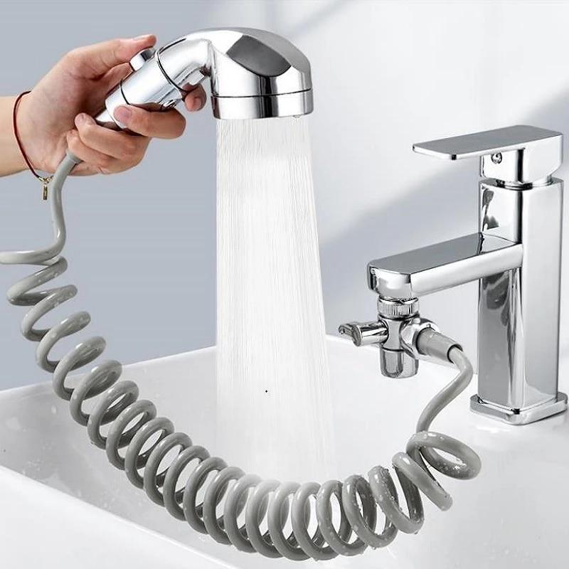 bathroom faucet external set shower handheld sprayer kitchen faucet diverter valve for water diversion home bathroom diverter