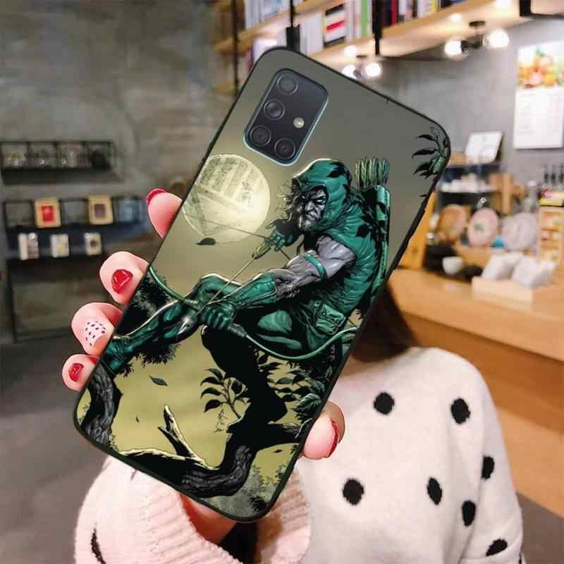 Cutewanan Green Arrow Zachte Zwarte Telefoon Case Voor Samsung A10 A20 A30 A40 A50 A70 A80 A71 A91 A51 A6 a8 2018