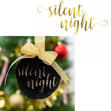 Silent Night Hot Foil Plate Christmas Phrase for DIY Scrapbooking Embossing Crafts Cards Decoration New 2019