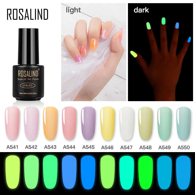 Nuevo 10 colores luminoso Gel luminoso colorido neón Gel laca Himmer brillo Gel laca Semi permanente decoración de uñas Gel barniz 7ml