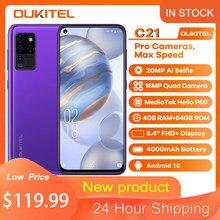 Oukitel C21 Quad Camera Android 10 Os Smartphone 6.4 ''4000Mah 20MP Fhd + Full Screen 4 + 64gb Rom Octa Core Global Versie Telefoon