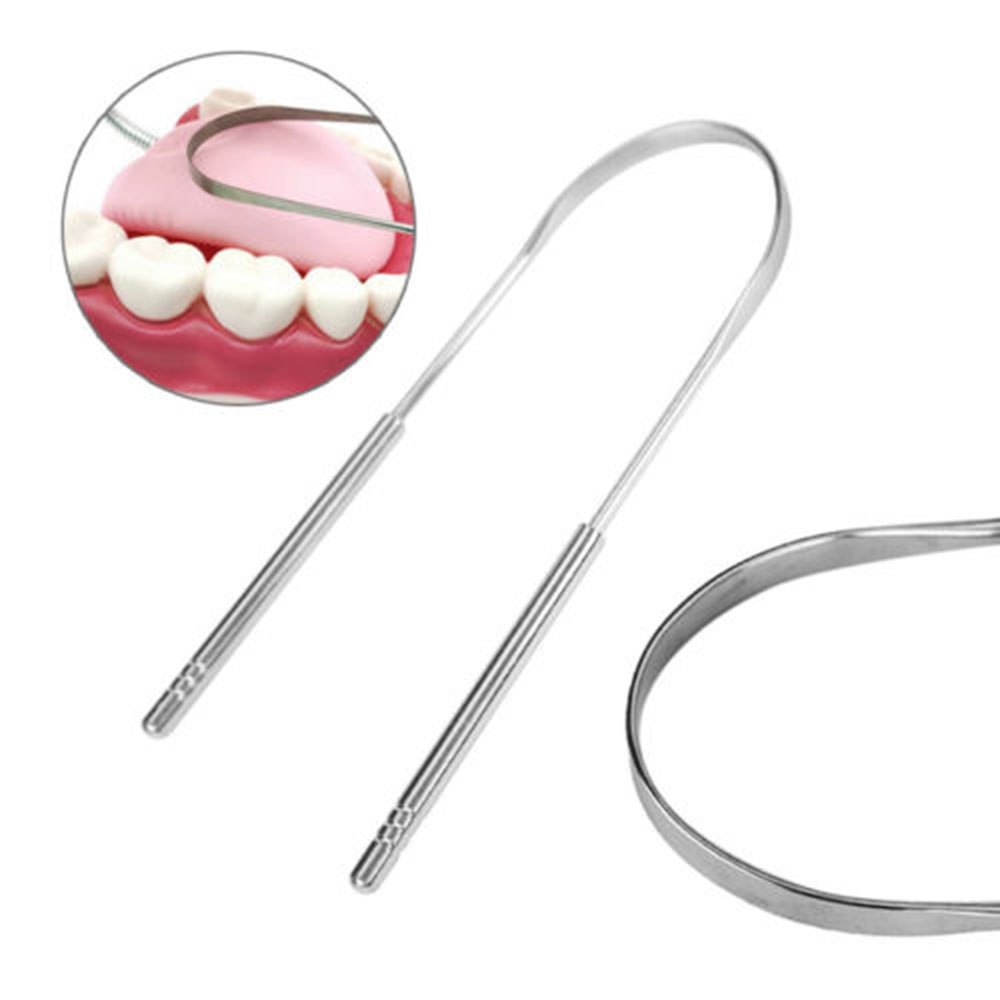 Stainless Steel Tongue Scraper Hygiene Care Toothbrush Keep Tongue Cleaner Cleaner Scraper Brush Effectively Remove Food Debris