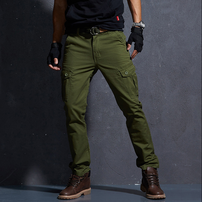 2019 NEW Outdoor Cargo Pants Men Lightweight Tactical Pants Man Cotton Elastic Trousers Casual Pants Male FSN-202