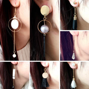 Drop-Earrings Long-Products Circular Korea Pearl Tassel Limited Beibei Brinco Promotion