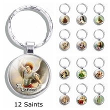 Church souvenir St Michael keychain Anthony Pendant Joseph  Jewelry Saint Religious Christianity Catholicism gift