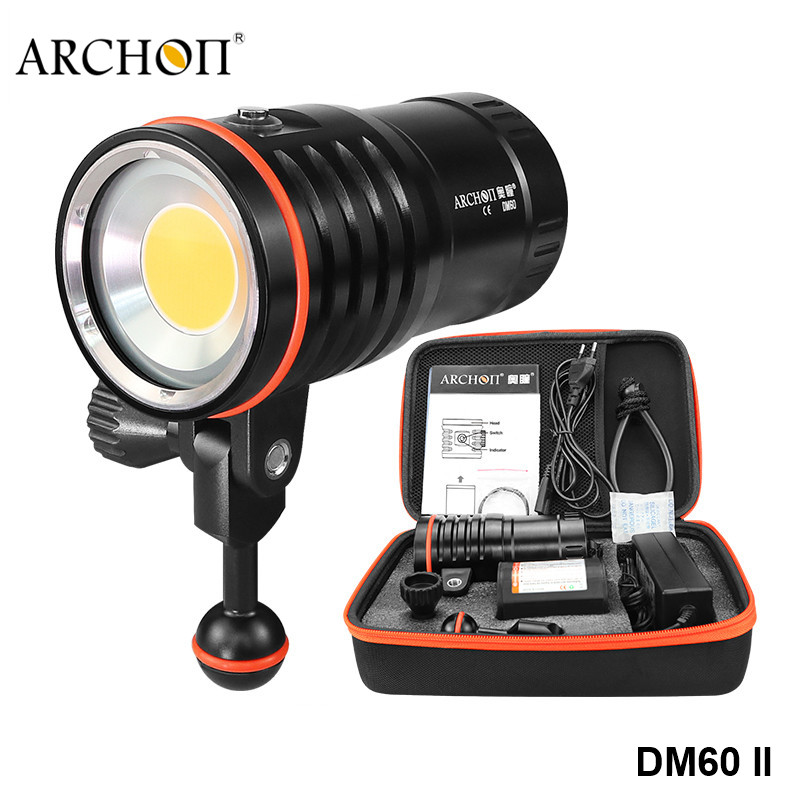 Archon DM60 Cree COB High CRI Diving Video Photography Flashlight High Power Rechargeable 12000lm Underwater Dive Searchlight