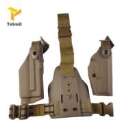 Airsoft Safarilands Pistol Glock17 19 22 23 31 Belt Holsters Flashlight Right Hand Use Leg Holster Light Bearing glock Holster