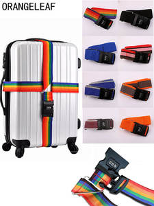 Luggage-Strap Belt-Tag Packing-Suitcase Travel-Accessories Cross-Belt Password-Lock Adjustable
