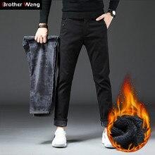 2019 Winter Nieuwe Mannen Slim Warme Casual Broek Business Mode Klassieke Stijl Katoen Stretch Strakke Dikker Broek Mannelijke Merk