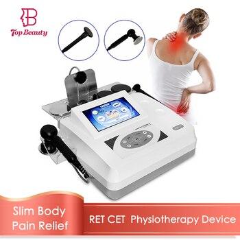 Tecar-terapia de fisioterapia diatermia adelgazante, máquina Monopolar RF, RET CET, equipo para aliviar el dolor y la fatiga Estiramiento facial cuerpo