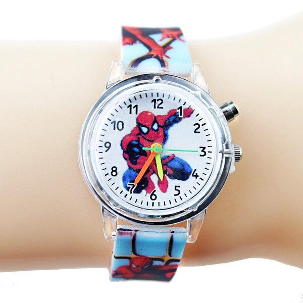 Princess Elsa Children Watches Kids Spiderman Colorful Light Source Boys Watch Girls Party Gift Clock Wrist Relogio Feminino