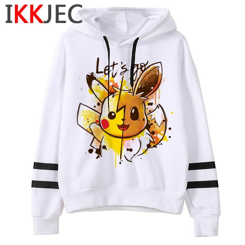 Pokemon Go Funny Cartoon Warm Hoodies Men/women Cute Pikachu Japanese Anime Sweatshirts Fashion 90s Steetwear Hoody Male/female 28