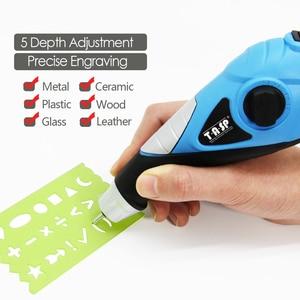 Image 4 - Электрический гравировальный инструмент 230V 13W, ручка для гравировки по дереву, металлу, стеклу, пластику с трафаретом, креативные хобби
