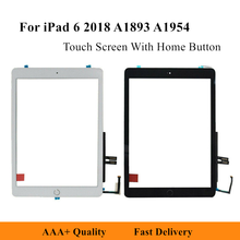 Сменная сенсорная панель для iPad 6 2018 A1893 A1954 9,7 дюйма, сенсорный экран, дигитайзер, переднее внешнее стекло с кнопкой «домой»