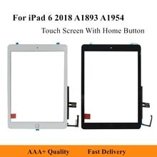 Сменный сенсорный планшет для iPad 6 2018 A1893 A1954 9,7 дюйма, сенсорный экран, дигитайзер, переднее внешнее стекло с кнопкой Home