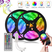LED Strip RGB 5050 2835 Festoon Voice Control Led lights DV 12V Diode Tape Bluetooth Control Neon light 5M-20M Flexible Ribbon