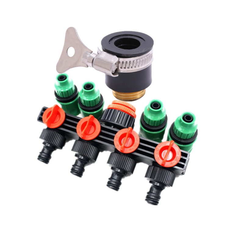 for 4mm//7m tube Tee joint hoses Irrigation Drippers Plastic Coupling Connector