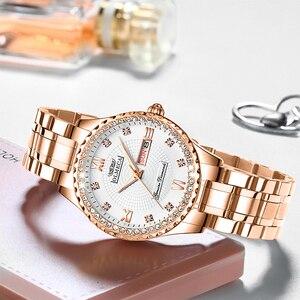Image 2 - OLMECA Women Wrist Watch Fashion Auto Date Luxury Quartz Watches Relogio Feminino Watches 30M Waterproof Clock Lady Style
