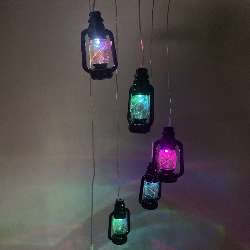 Retro Solar LED Light Color Changing Wind Chimes Home Garden Yard Decor Lamp
